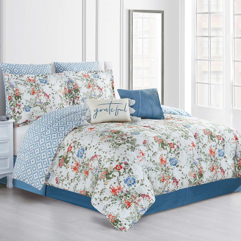 Grace Mitchell 8-Piece Reversible Comforter Set, King