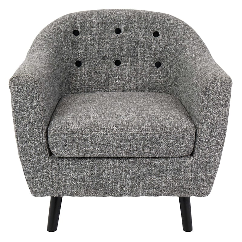 Rockwell Salt & Pepper Mid-Century Modern Accent Chair