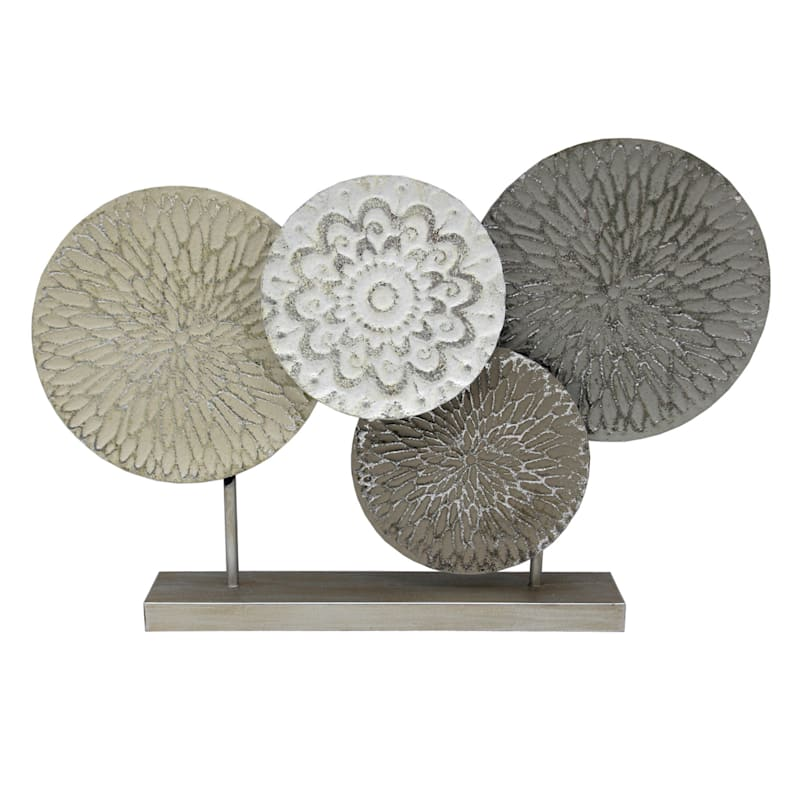 16in. Metal Circles On Stand