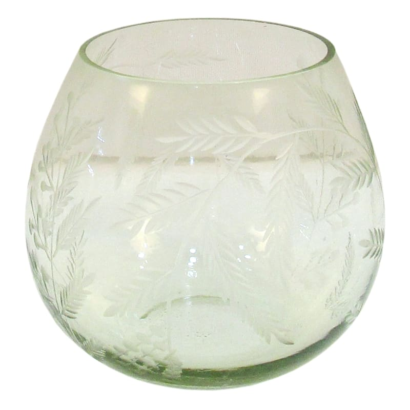 4in. Green Etched Tealight Holder