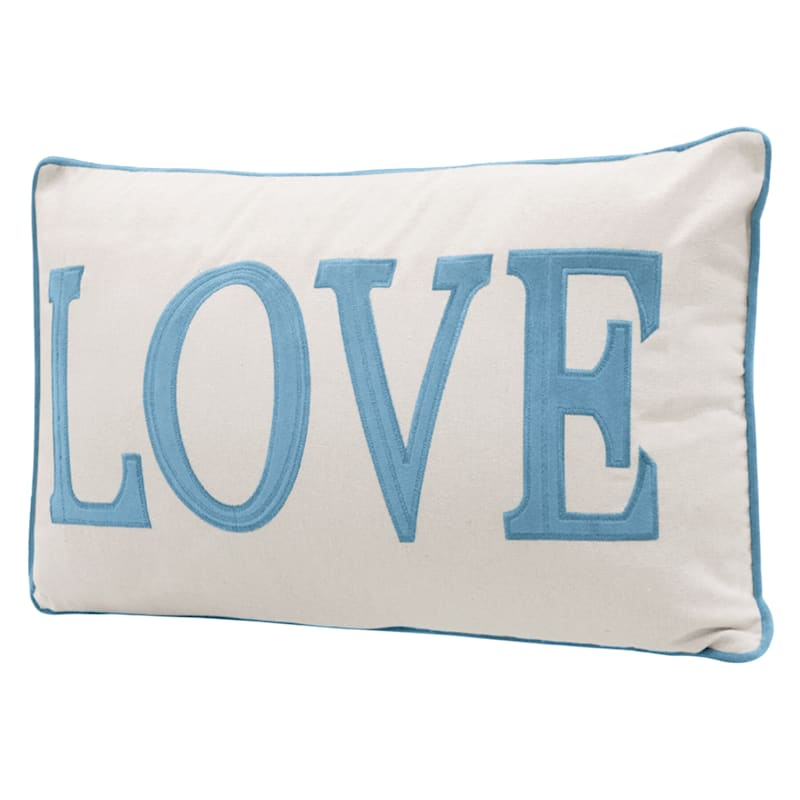 16X26 LOVE PILLOW OCEAN