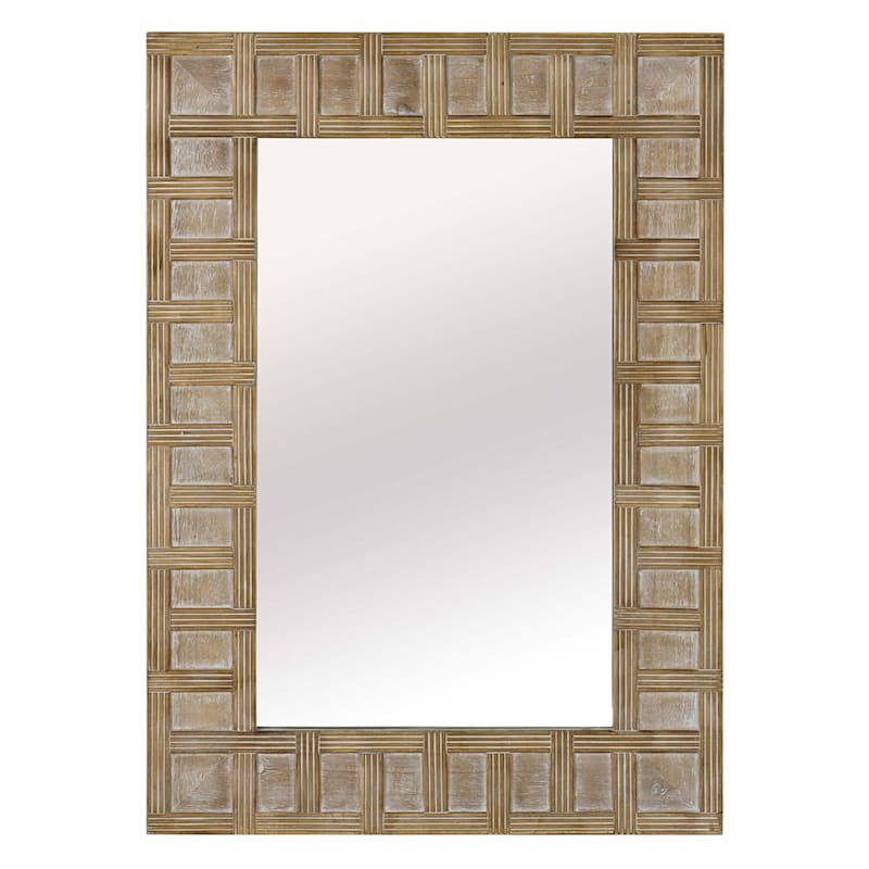 Tracey Boyd 25X36 Wood Rectangle Brown Mirror