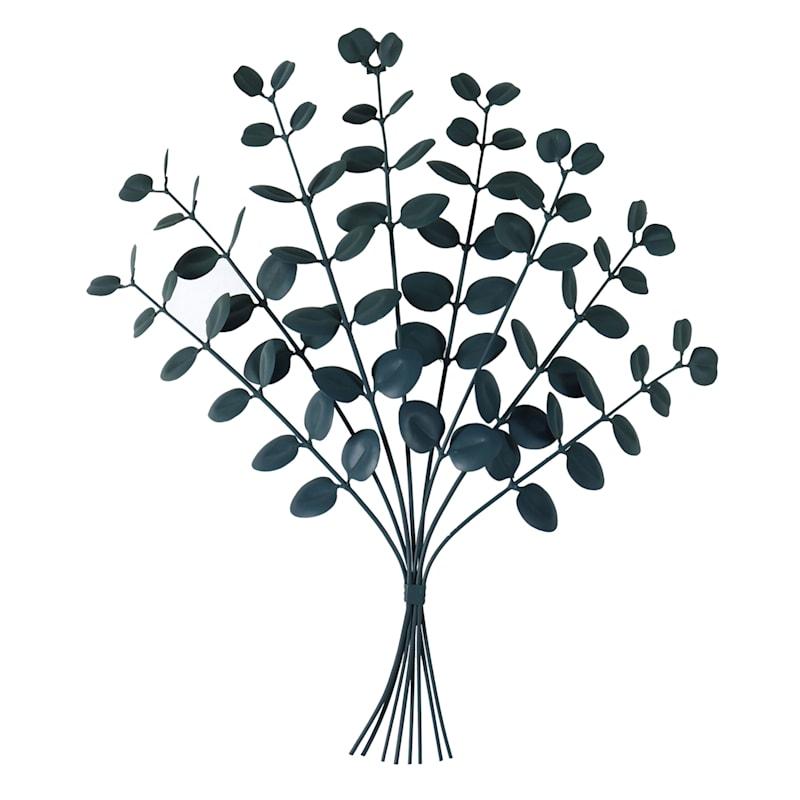 20X23 Metal Green Bouquet Wall Art