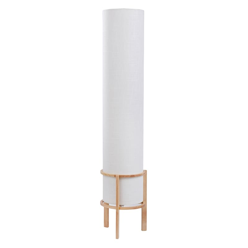 Tracey Boyd 43in. White Fabric Type Floor Uplight