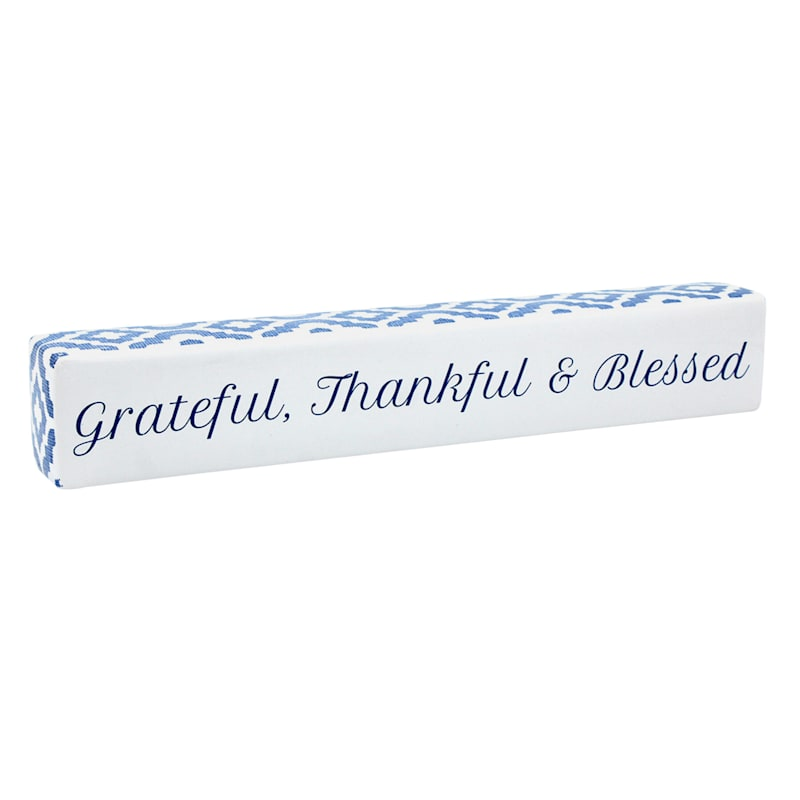 Grace Mitchell Grateful, Thankful & Blessed Tabletop Decor, 12X2
