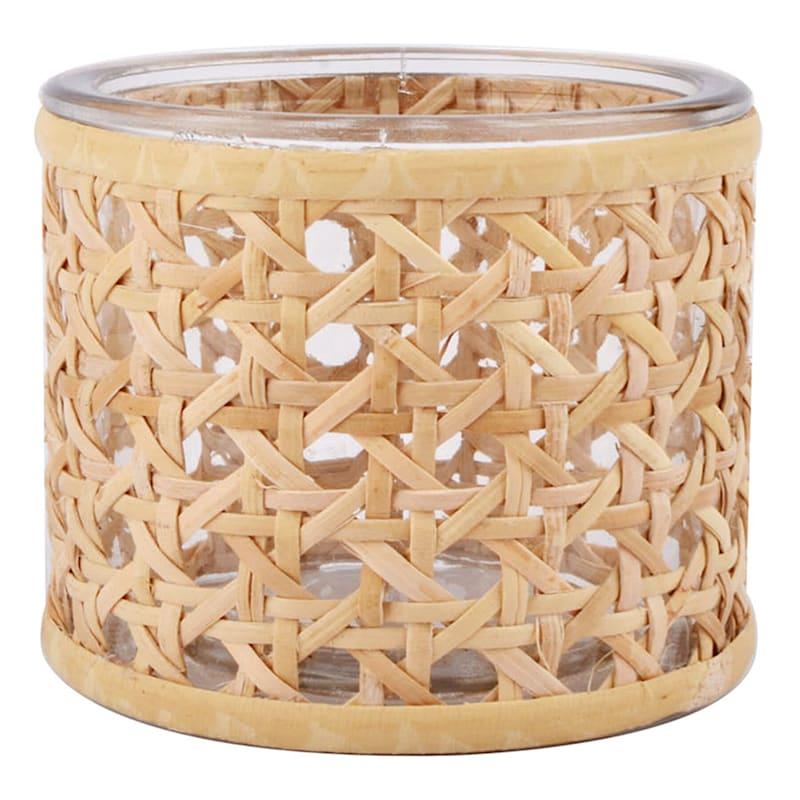 Grace Mitchell Cane Wrap Glass Vase