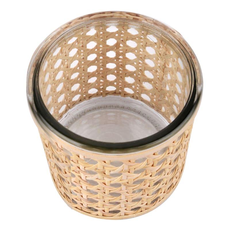 "Grace Mitchell Cane Wrap Glass Vase, 4"""