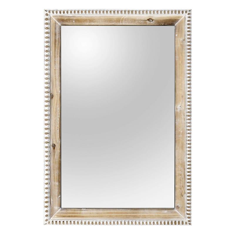 20X30 Wood Beaded Frame Wall Mirror