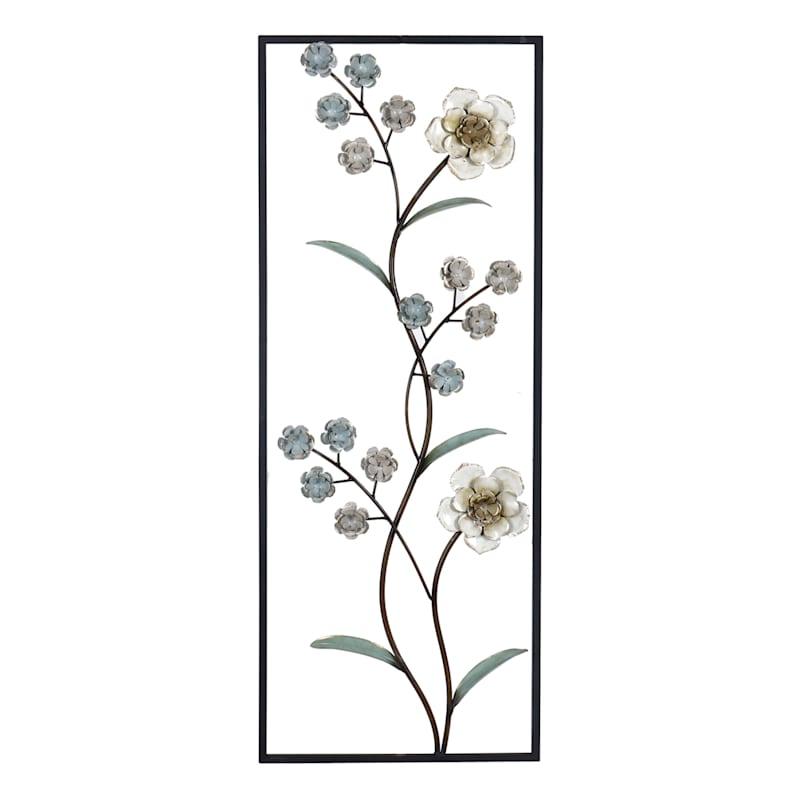 14X36 Metal Wall Flower Panel