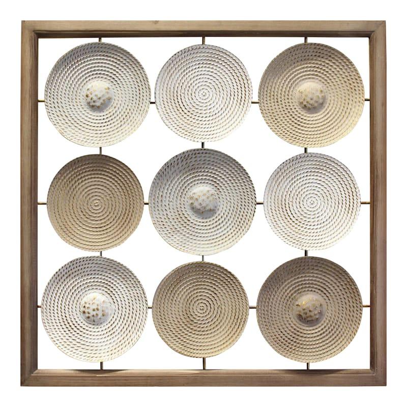Tracey Boyd 30in. Frame Metal Plates Wall Decor