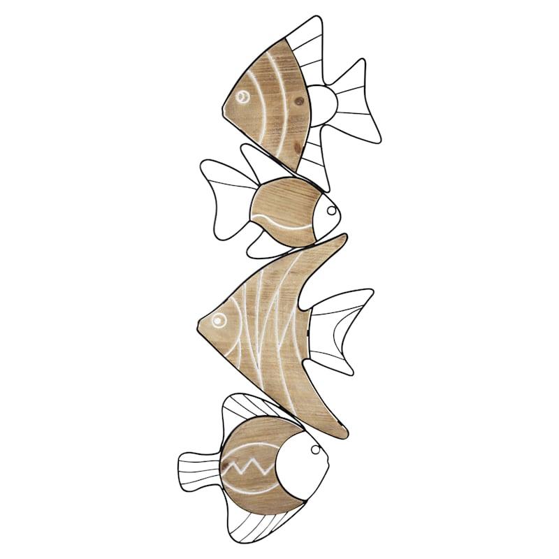 "34"" Swimming Fish Wall Decor"