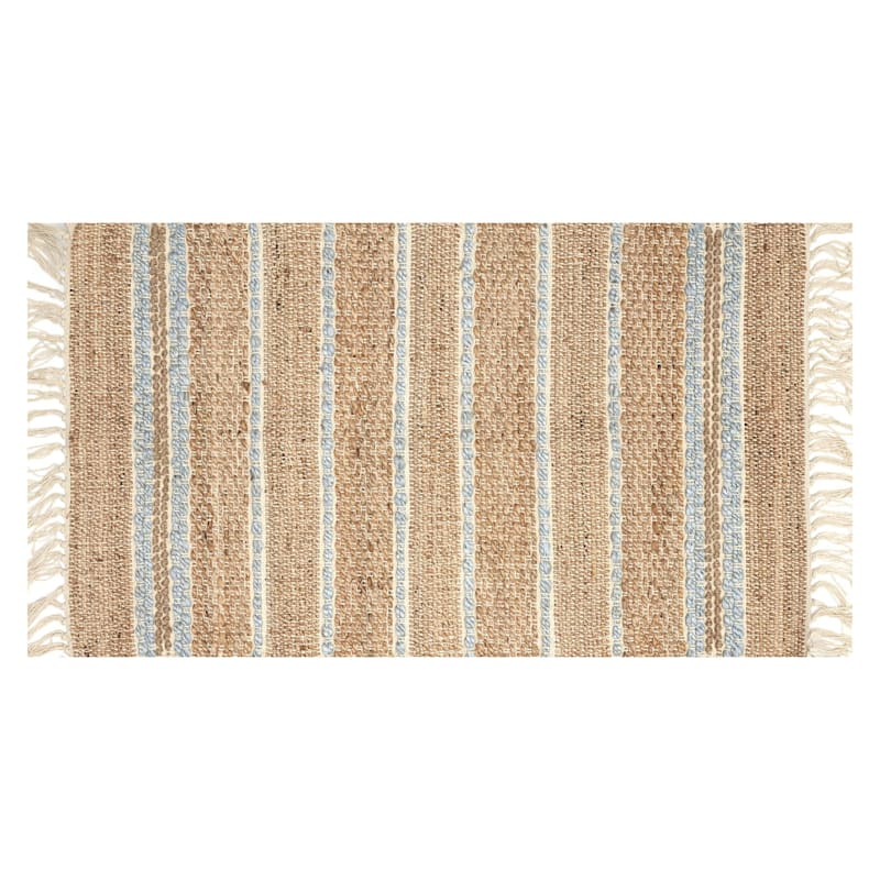 Tao Light Green Woven Jute Accent Rug, 2x4