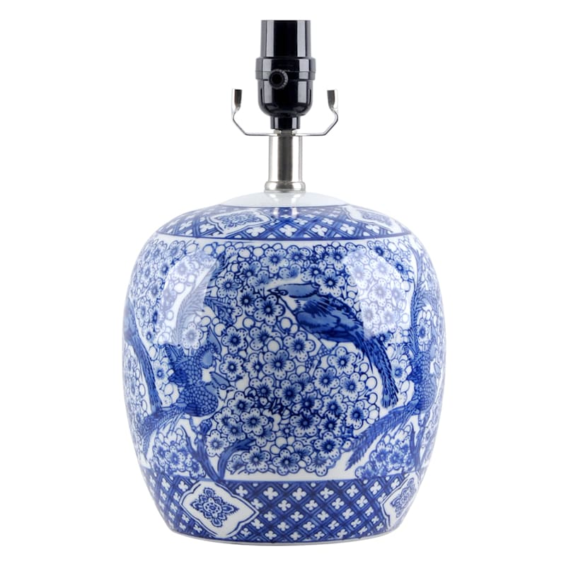 """Grace Mitchell Chinoiserie Ceramic Accent Lamp, 13"""""""