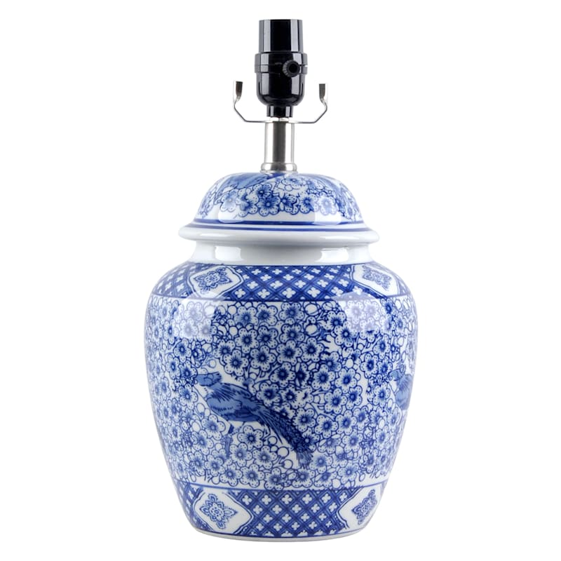 """Grace Mitchell Chinoiserie Urn Ceramic Accent Lamp, 15"""""""