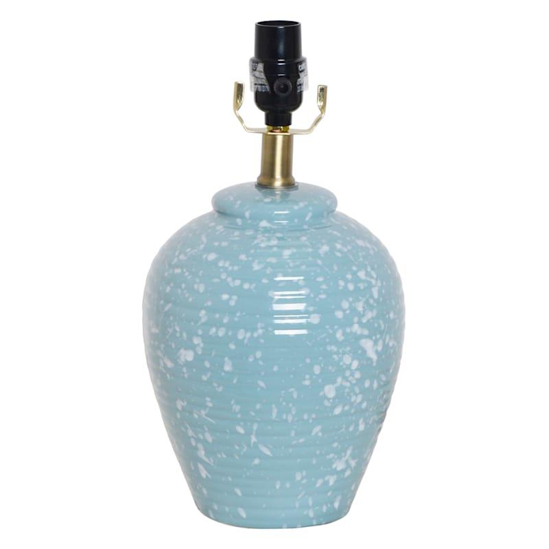 14in. Blue Speckled Ceramic Accent Lamp