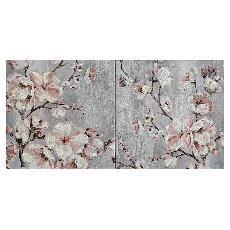 Tracey Boyd Cherry Blossoms 2-Piece Canvas Wall Art