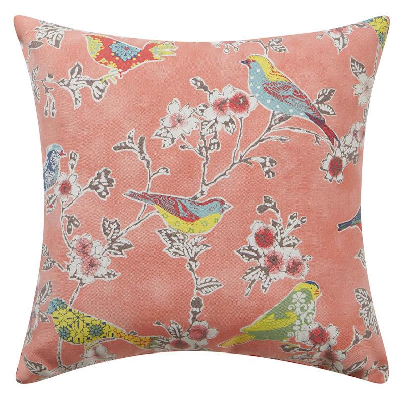 Coral Outdoor Pillow - Tweet