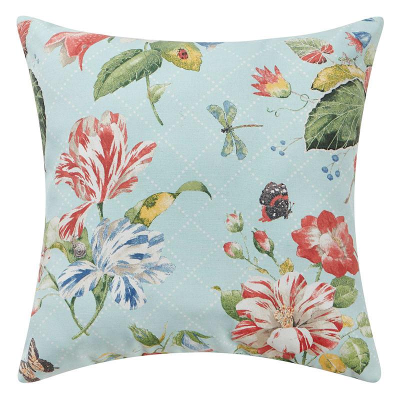 Aqua Outdoor Pillow - Springtime