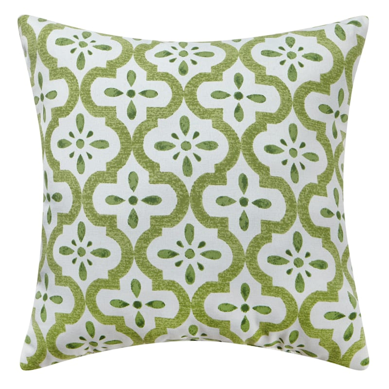 Green Outdoor Pillow - Timeless Print