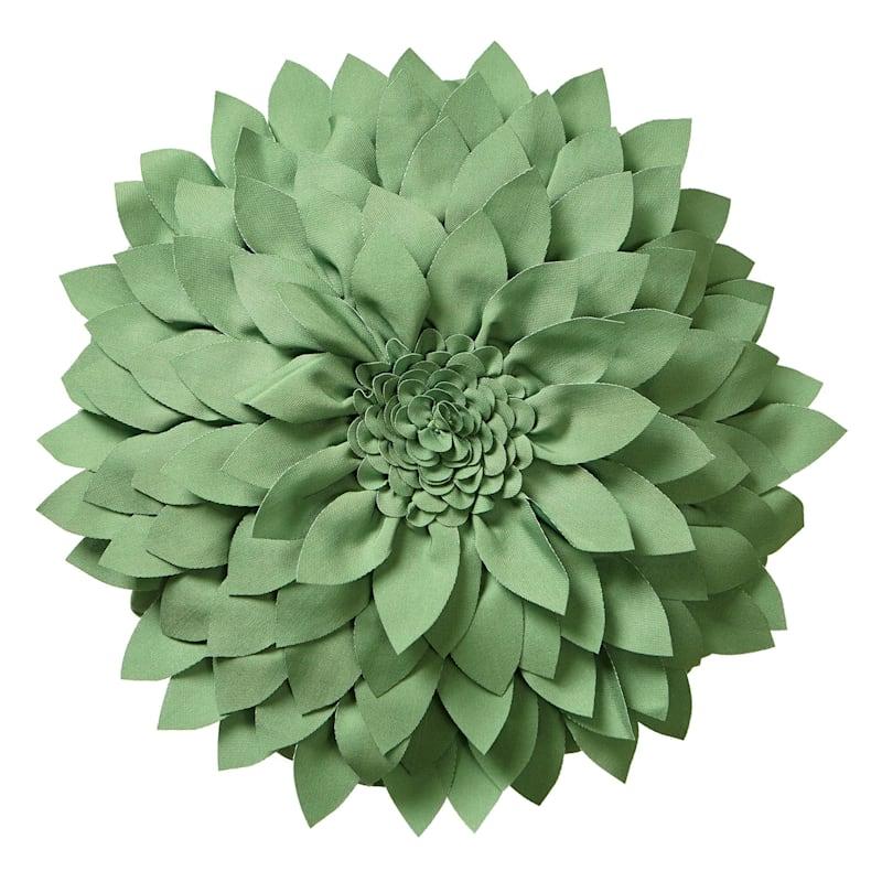 Green Outdoor Pillow - Petals