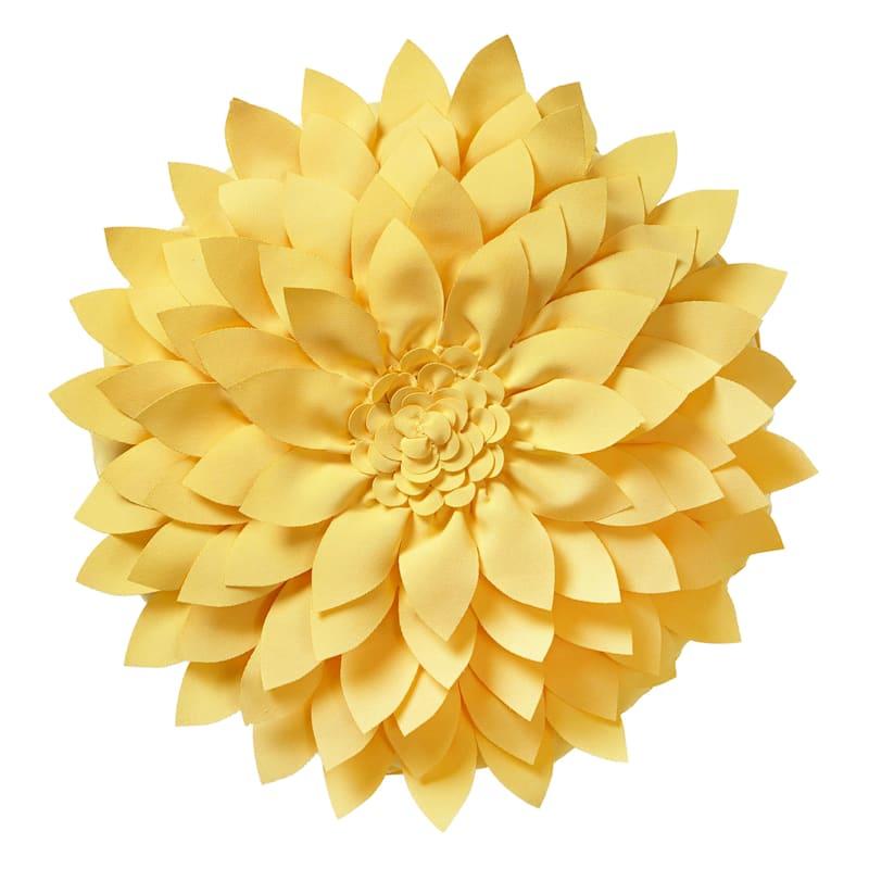 Yellow Outdoor Pillow - Petals