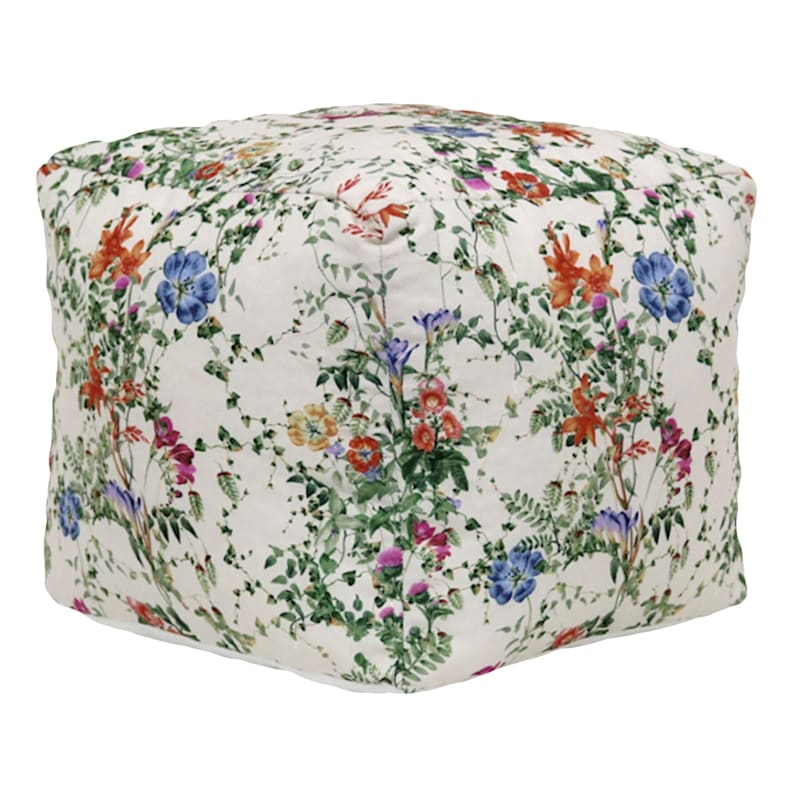 Grace Mitchell Floral Printed Pouf