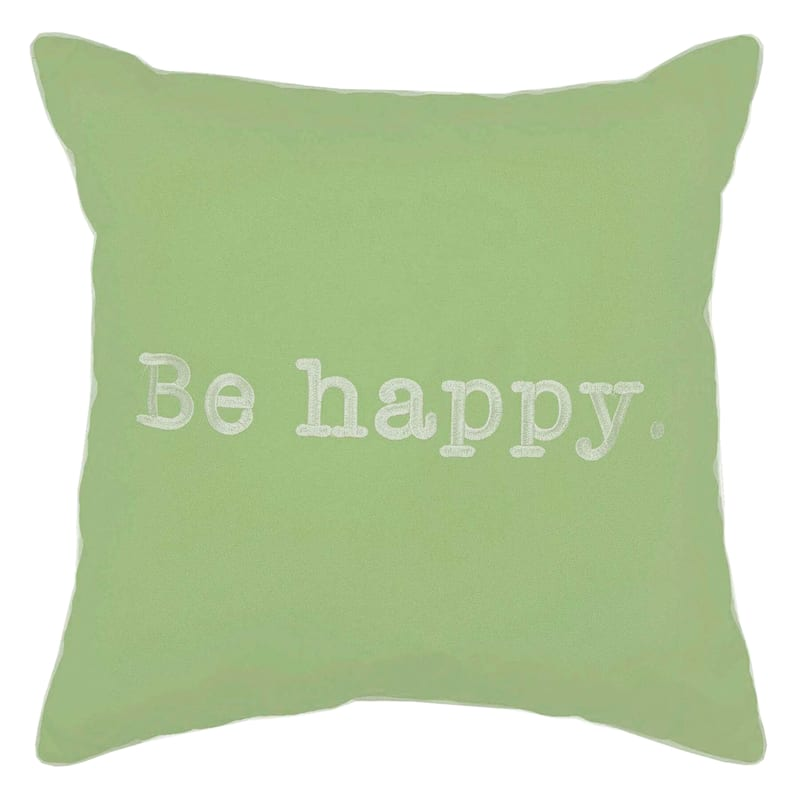 Outdoor Pillow - Be Happy - Green