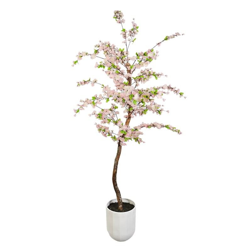 6ft. Cherry Tree White Metal