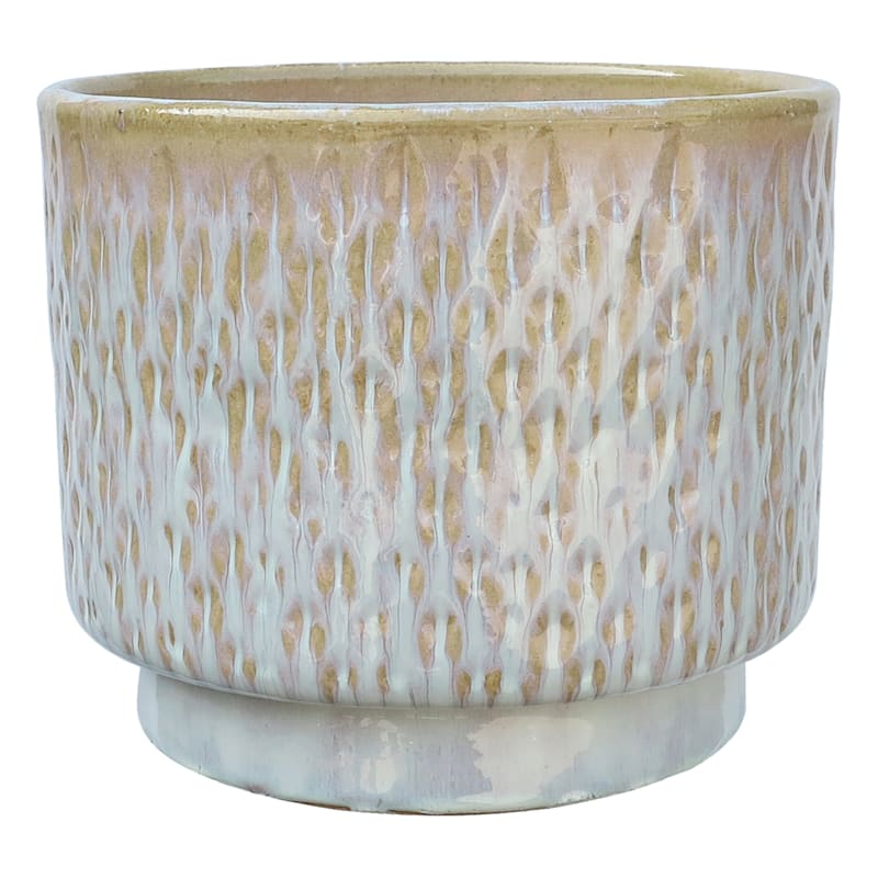 Dimple Ceramic Planter 13.2in. White