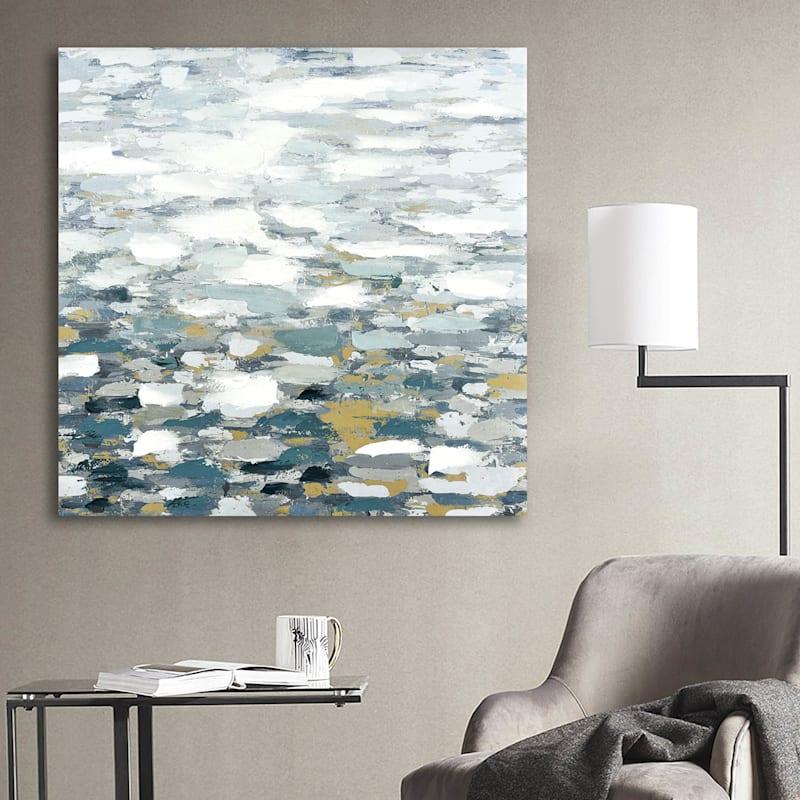 39X39 Kio Pond Embellished Canvas Art