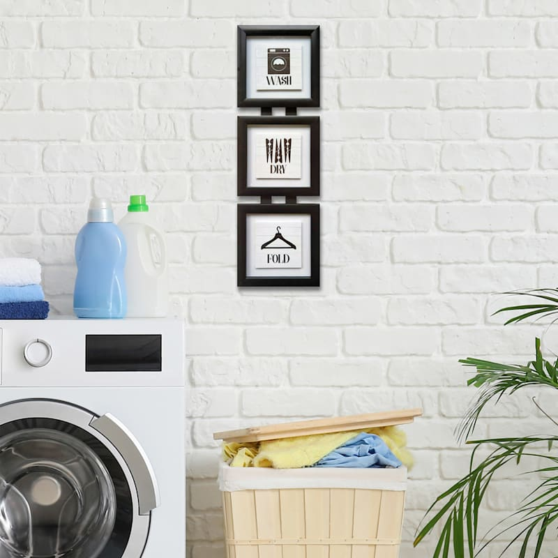7X24 Wash Dry Fold 3Up Framed/Glass Art