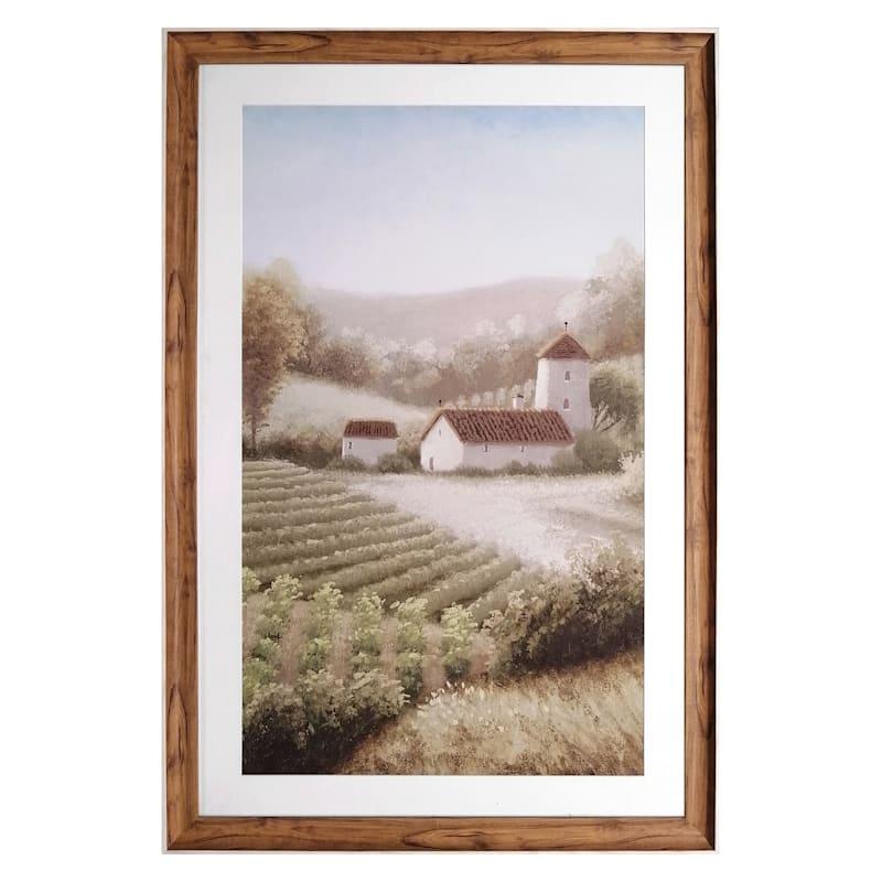 27X41 Vineyard Framed/Glass Art