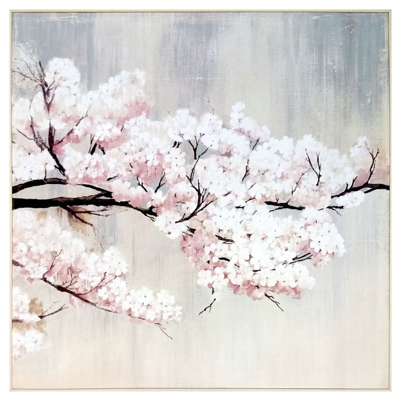 Tracey Boyd 41X41 Blossoms Embellished Framed Canvas Art