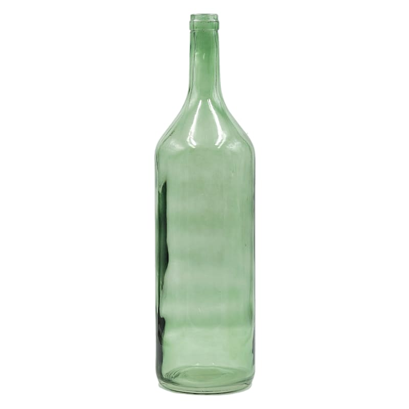 Green Glass Bottle 6X21