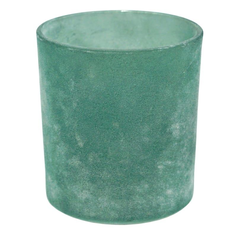Cylinder Frosted Glass Votive Holder 4X4
