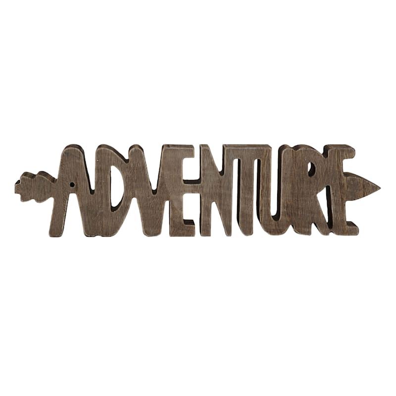 16X4 Dark Brown Adventure Sign