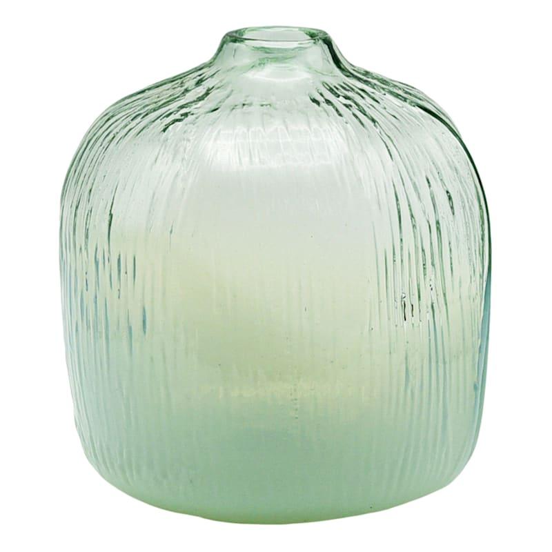 8in. Milky Green Glass Vase
