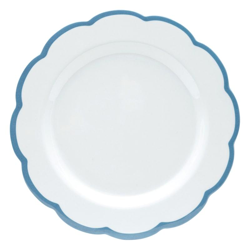 Grace Mitchell Melamine Scalloped Plate Blue