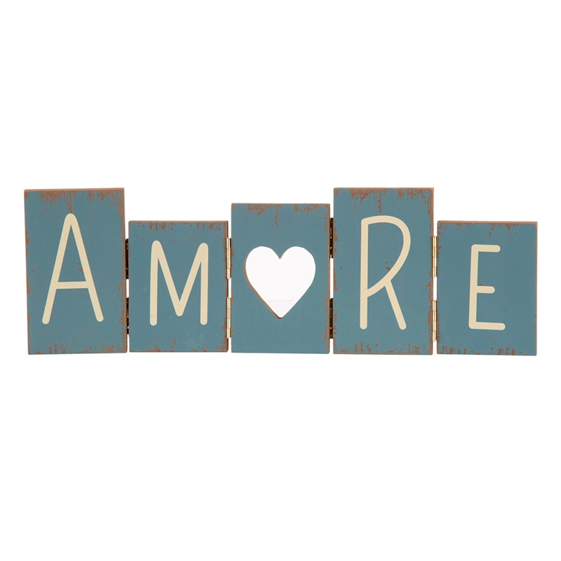 Wood Foldable Amore Sign