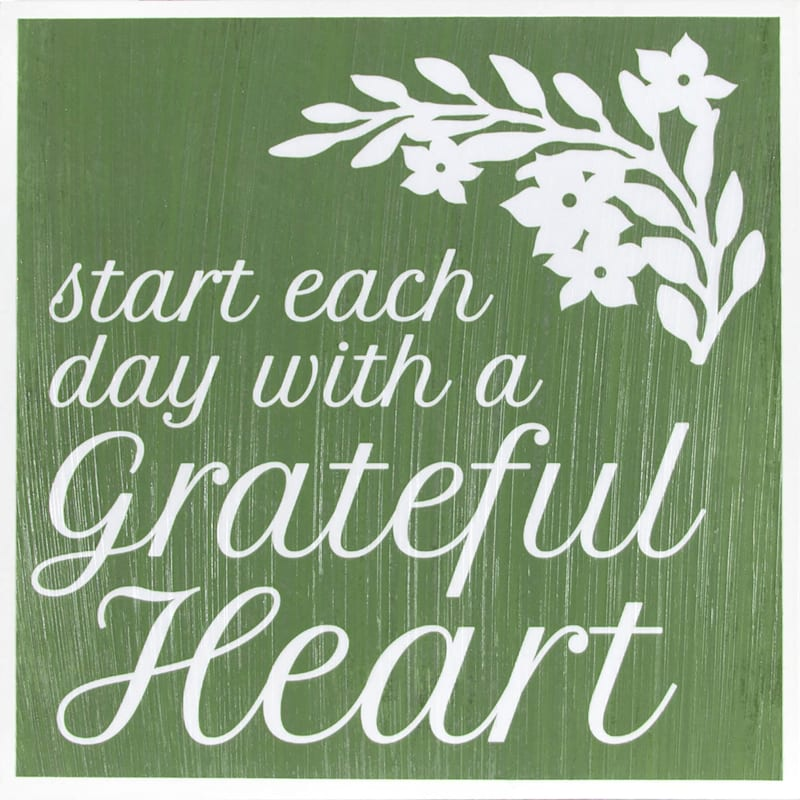 Grace Mitchell Green Grateful Heart Sign