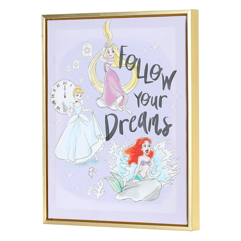 11X14 Disney Princess Canvas With Floating Frame Wall Art