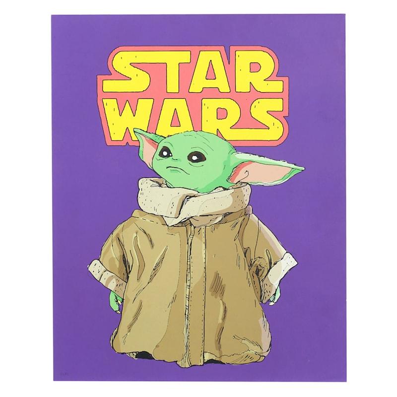 11X14 Baby Yoda Mdf Box Wall Art
