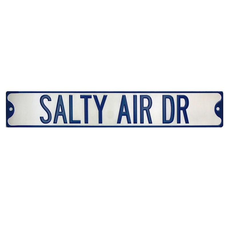 Salty Air Dr Metal Sign, 38X6