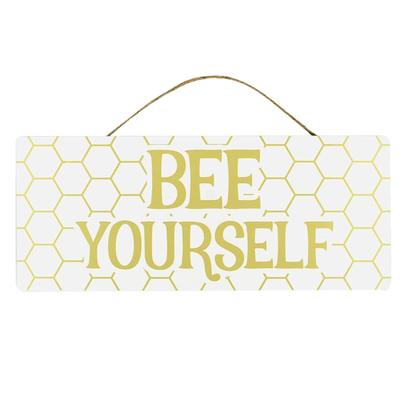 Grace Mitchell Bee Yourself Hanging Metal Sign, 12X5
