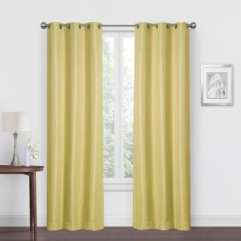 Morisson Yellow Blackout Grommet Window Panel 84in.