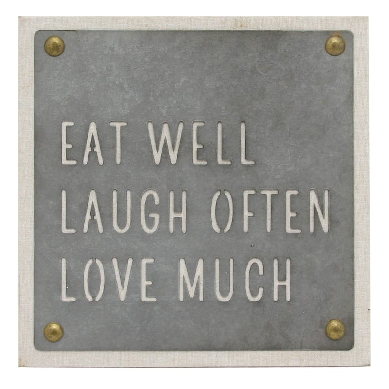 9.5in. Galvanized Metal Sign