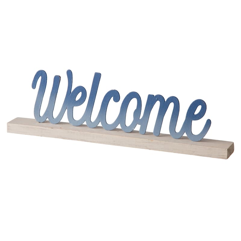 Grace Mitchell Wood Metal Welcome Word Sign