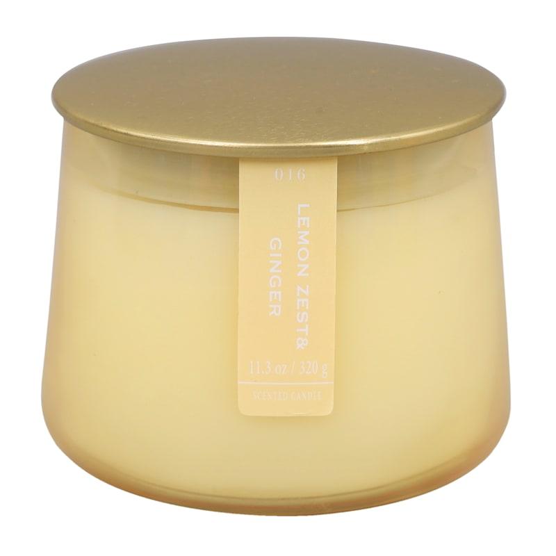 Lemon Zest/Ginger 11.3oz Gold Lip Glass Candle