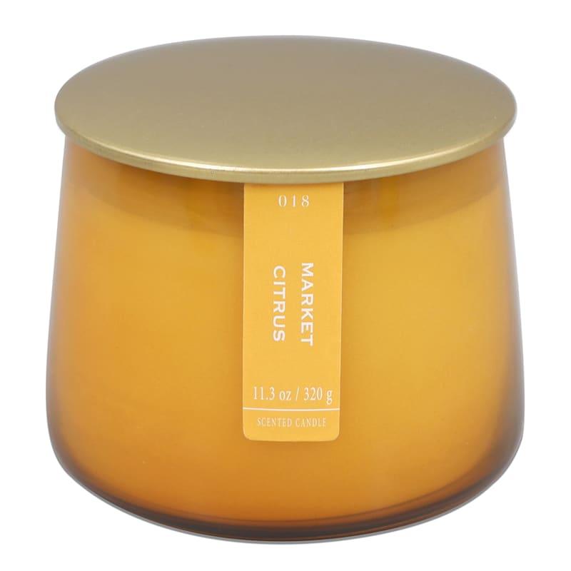 Market Citrus 11.3oz Gold Lip Glass Candle
