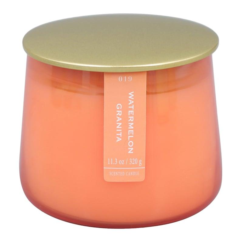 Watermelon Granita 11.3oz Gold Lip Glass Candle